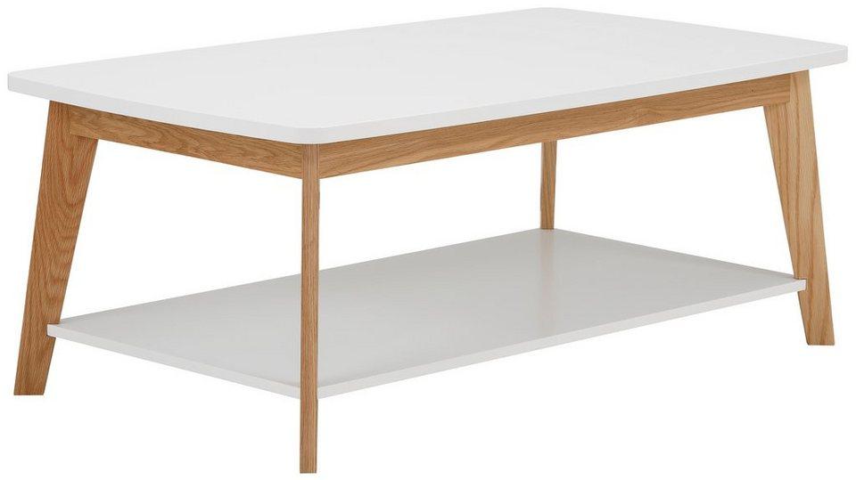 andas Couchtisch »Kensal white«, Breite 115 cm in weiß/eiche