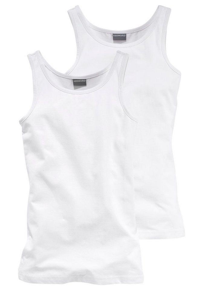 KIDSWORLD Longtop (2 Stück), für Mädchen in weiß