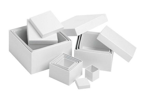 VBS Aufbewahrungsbox »Würfel«, 12er-Set
