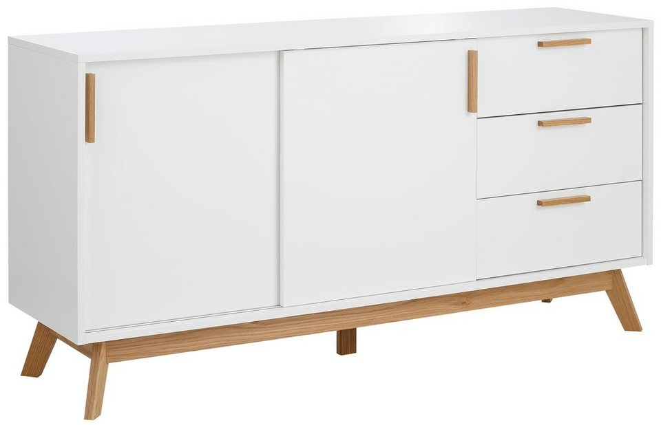 andas sideboard kensal white breite 150 cm otto. Black Bedroom Furniture Sets. Home Design Ideas