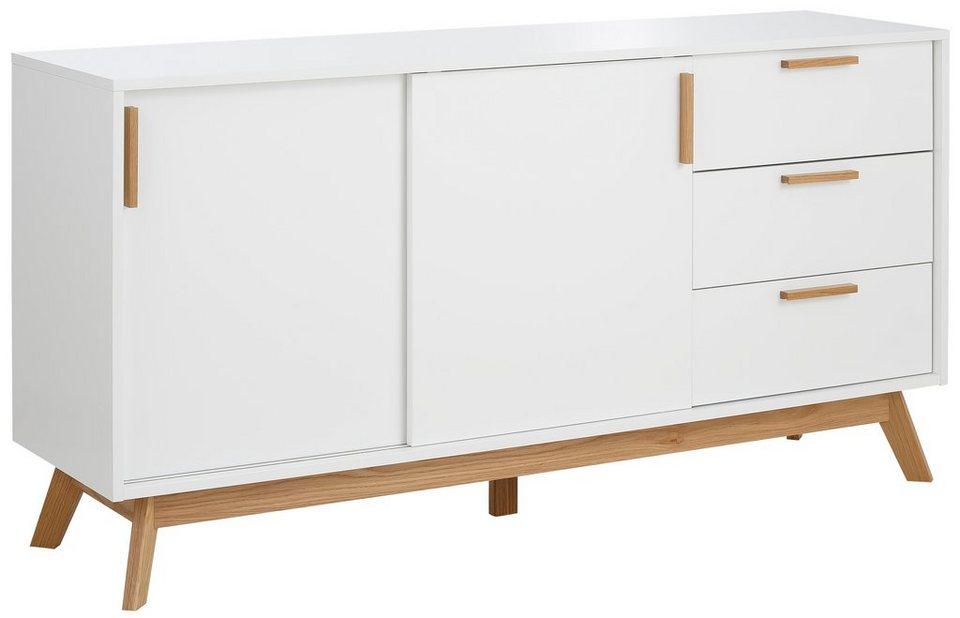 andas Sideboard »Kensal white«, Breite 150 cm in weiß/eiche