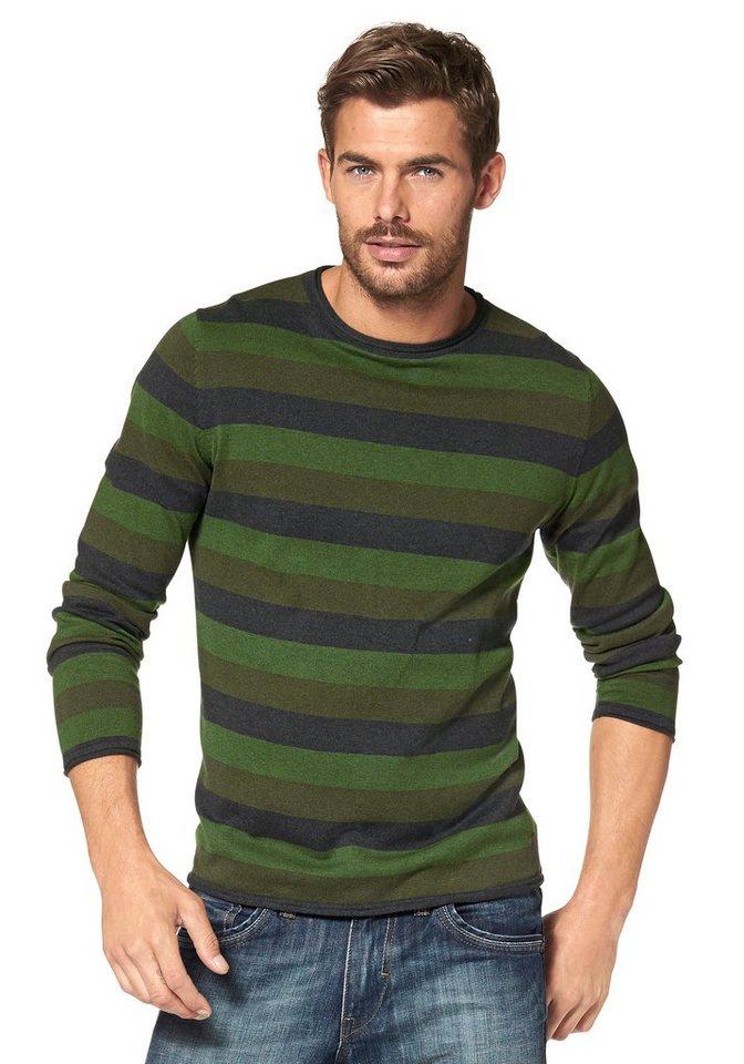 Tom Tailor Streifenpullover in grün