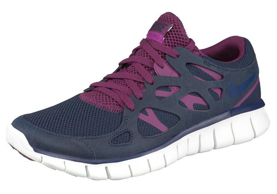 Nike Free Run 2 Wmns Sneaker mit opimaler Dämpfung in Dunkelblau-Beere