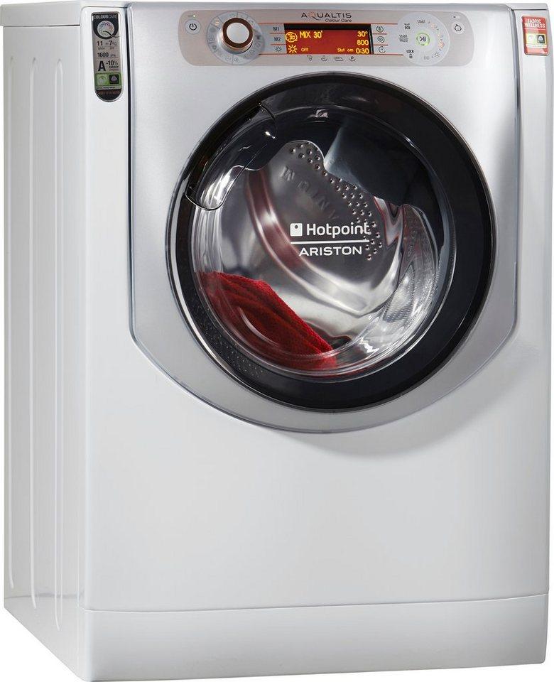 Hotpoint Waschtrockner AQD1171D 697ID EU/A, A, 11 kg / 7 kg, 1600 U/Min in weiß