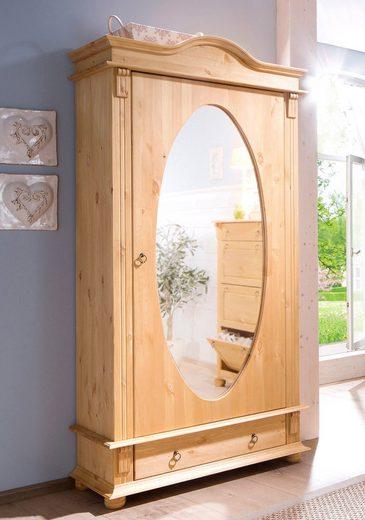 Home affaire Garderobenschrank »Florenz« mit Spiegel