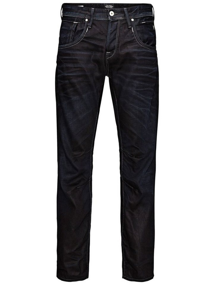 Jack & Jones Boxy Leed JJ 915 Loose Fit Jeans in Blue Denim