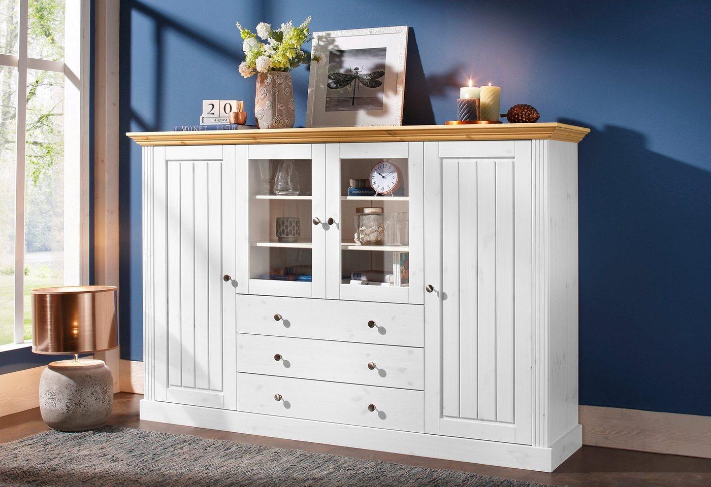 landhausstil weiss highboard preisvergleiche erfahrungsberichte und kauf bei nextag. Black Bedroom Furniture Sets. Home Design Ideas