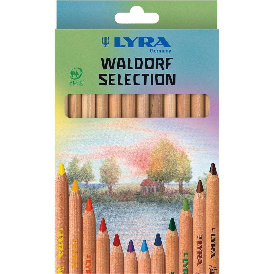LYRA Buntstifte Waldorf Selection, 12 Farben, natur