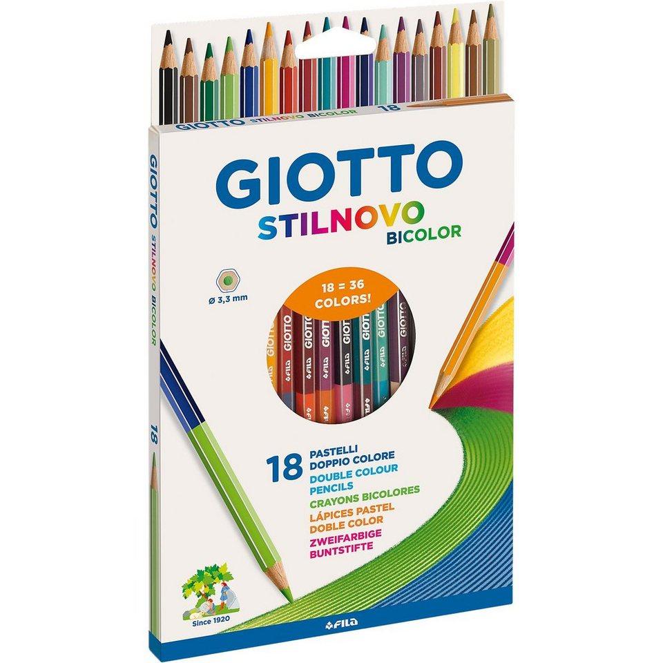 LYRA GIOTTO Stilnovo Bicolor-Buntstifte, 18 x 2 Farben