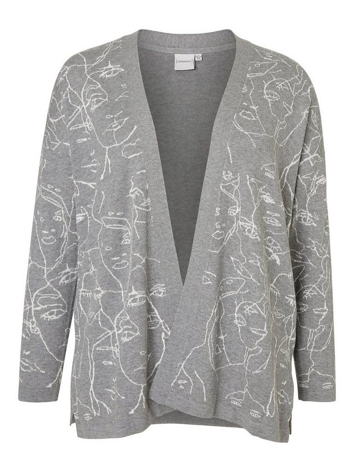 JUNAROSE Langärmelige Strickjacke in Grey