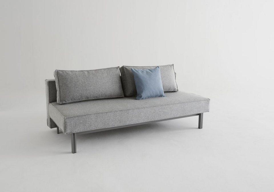 innovation schlafsofa sly metallbeine grau inklusive 2 r ckenkissen online kaufen otto. Black Bedroom Furniture Sets. Home Design Ideas