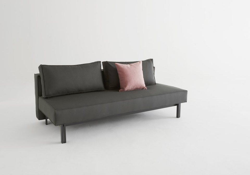innovation schlafsofa sly metallbeine schwarz inklusive 2 r ckenkissen online kaufen otto. Black Bedroom Furniture Sets. Home Design Ideas