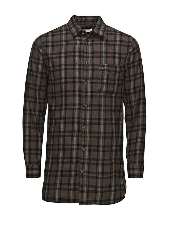Jack & Jones Long Fit Flanell- Freizeithemd in Black