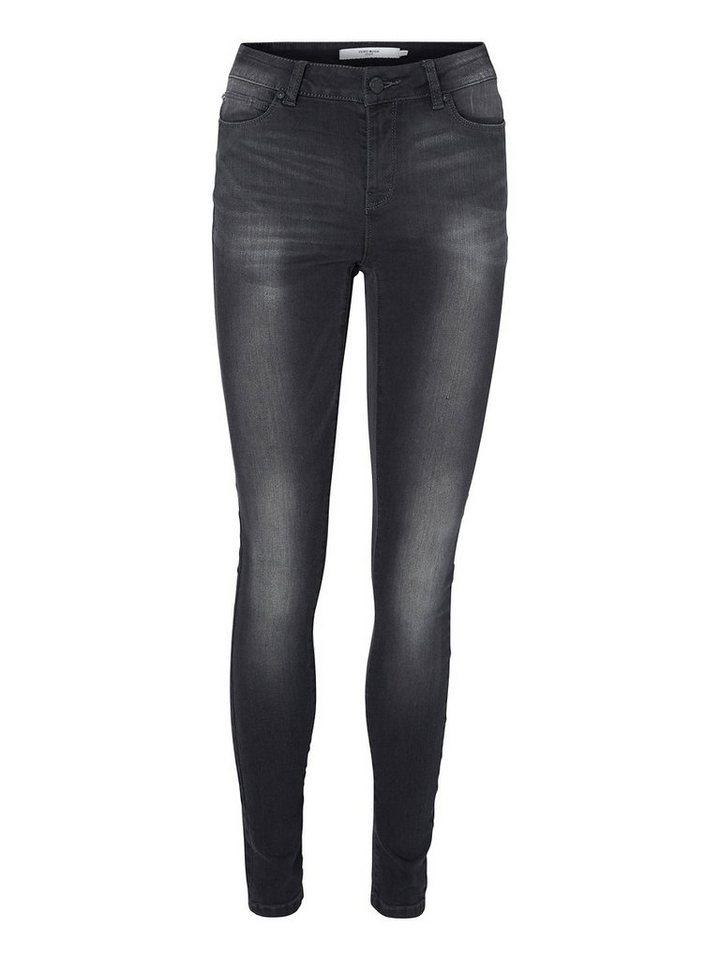 Vero Moda Seven NW Skinny fit jeans in Dark Grey Denim