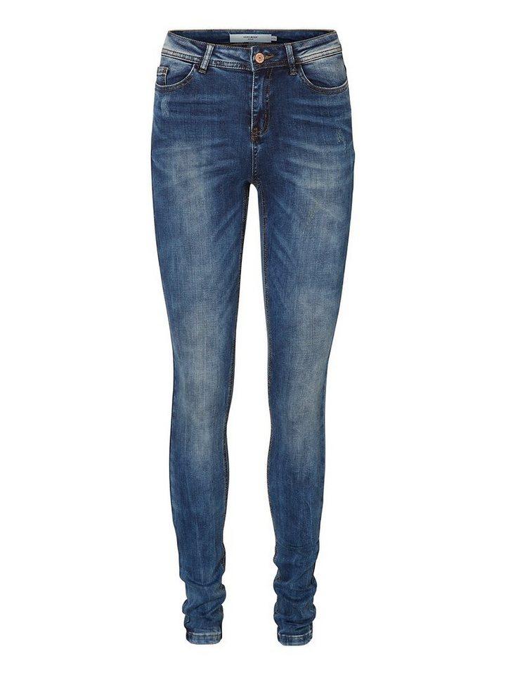 Vero Moda Seven NW Skinny Fit Jeans in Medium Blue Denim