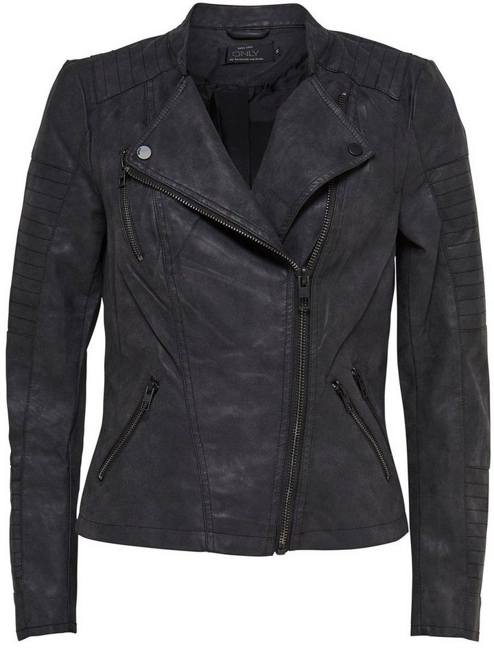 Only Leder-Look Jacke in Black