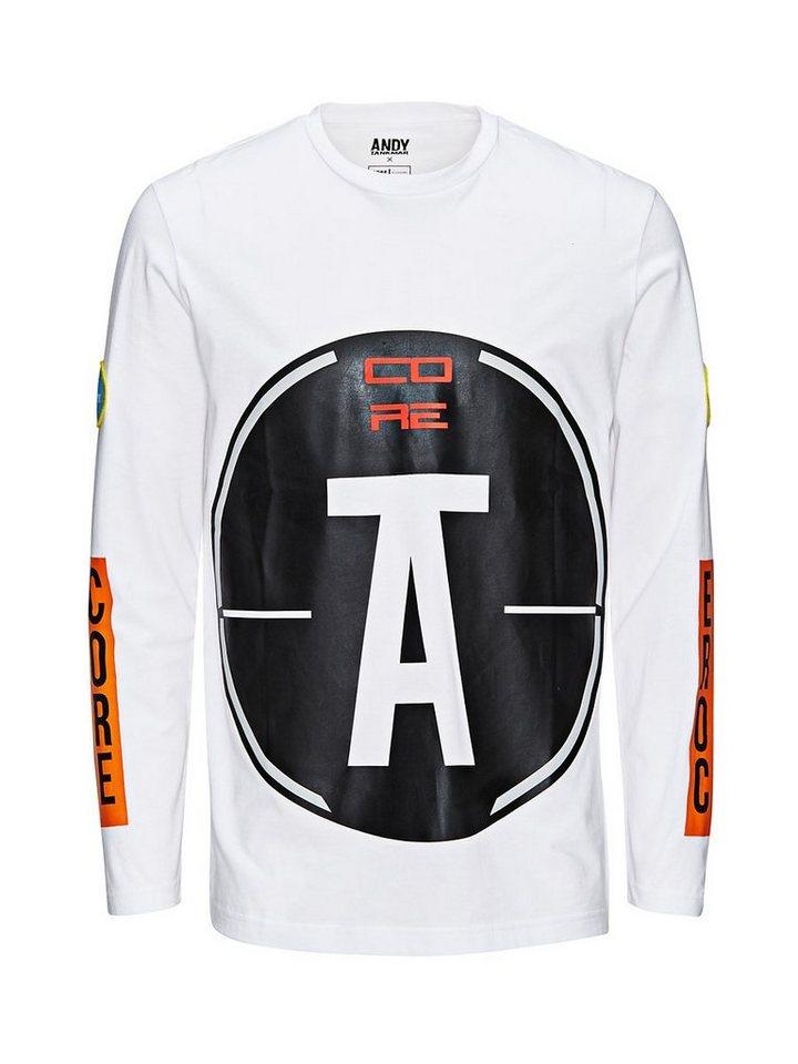 Jack & Jones Andy Tankmar T-Shirt mit langen Ärmeln in White