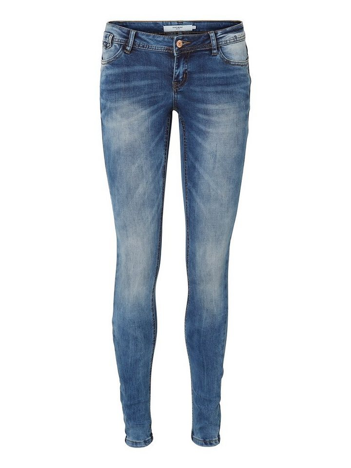 Vero Moda One SLW Skinny Fit Jeans in Medium Blue Denim