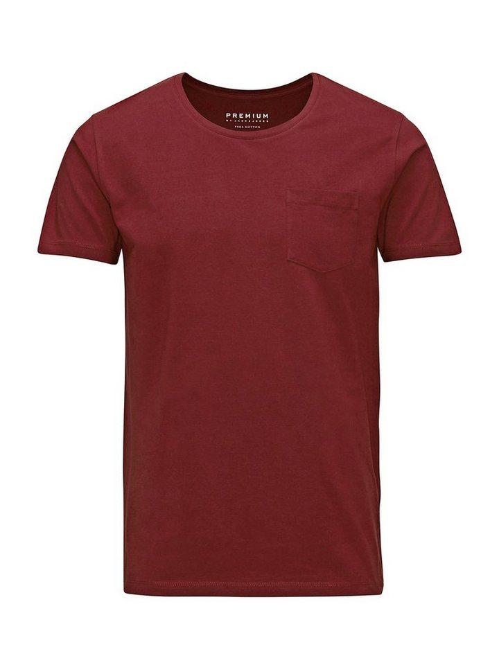 Jack & Jones Hohe Qualität, Baumwolle T-Shirt in Port 2