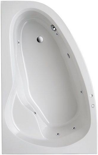 OTTOFOND Whirlpool-Badewanne »Loredana«, (Komplett-Set, 3-tlg), Typ 1, chrom