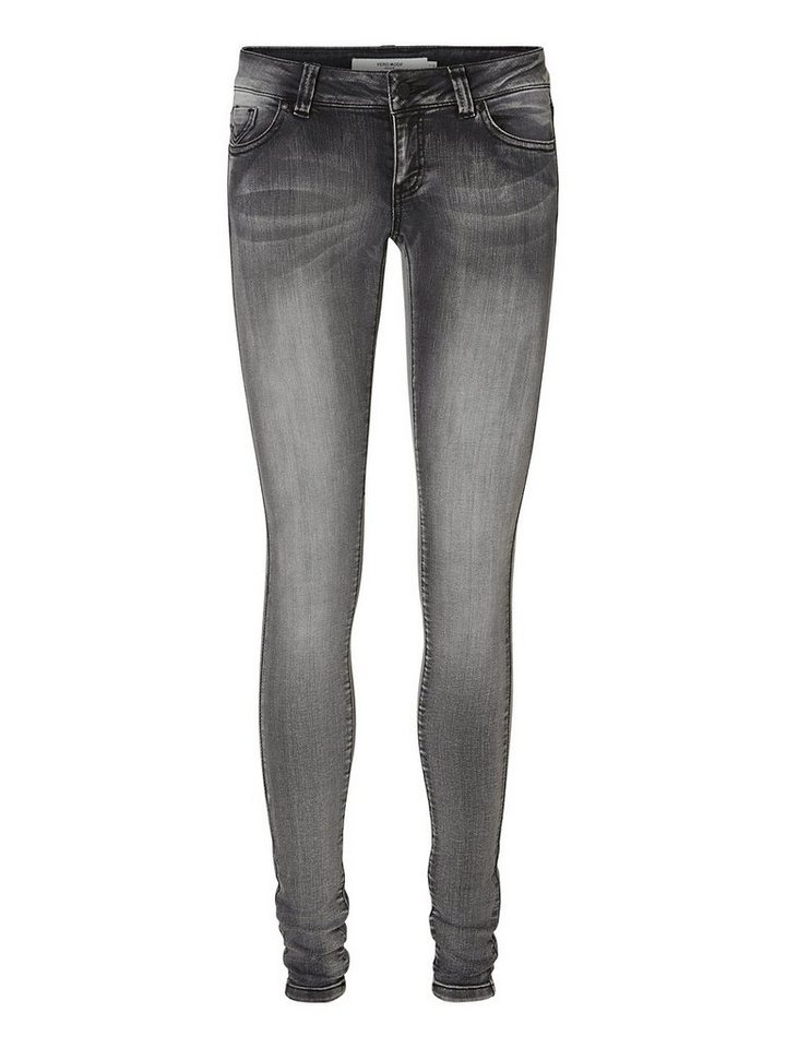 Vero Moda Five LW Skinny fit jeans in Light Grey Denim