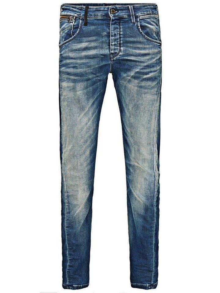 Jack & Jones Nick Lab BL 530 Indigo Strick- Anti Fit Jeans in Blue Denim