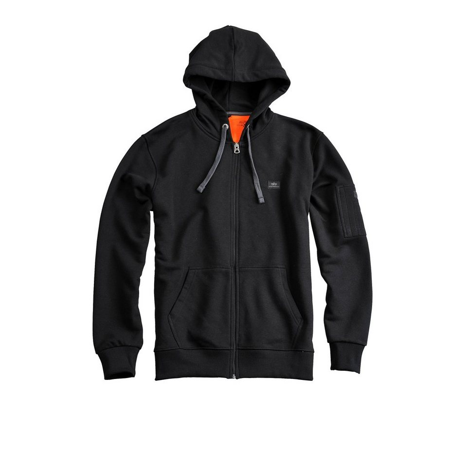 ALPHA INDUSTRIES Sweats »X-Fit Zip Hoody« in black