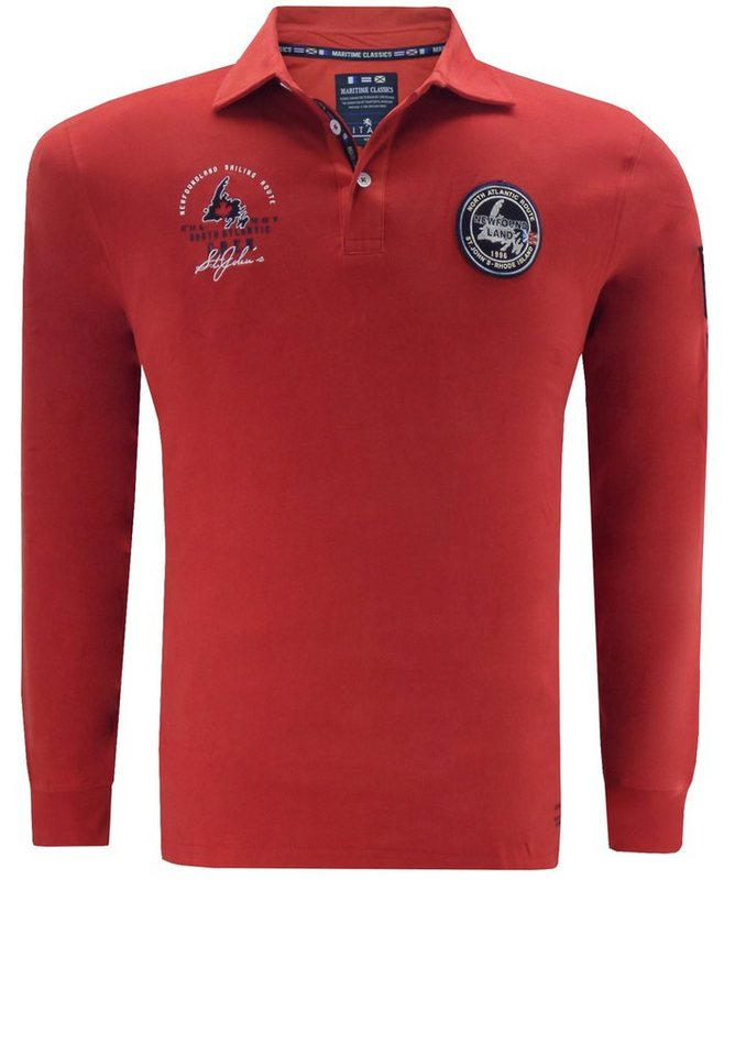 kitaro Polosweater in Rot