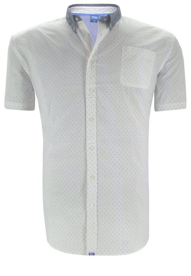 D555 Kurzarmhemd in Weiß