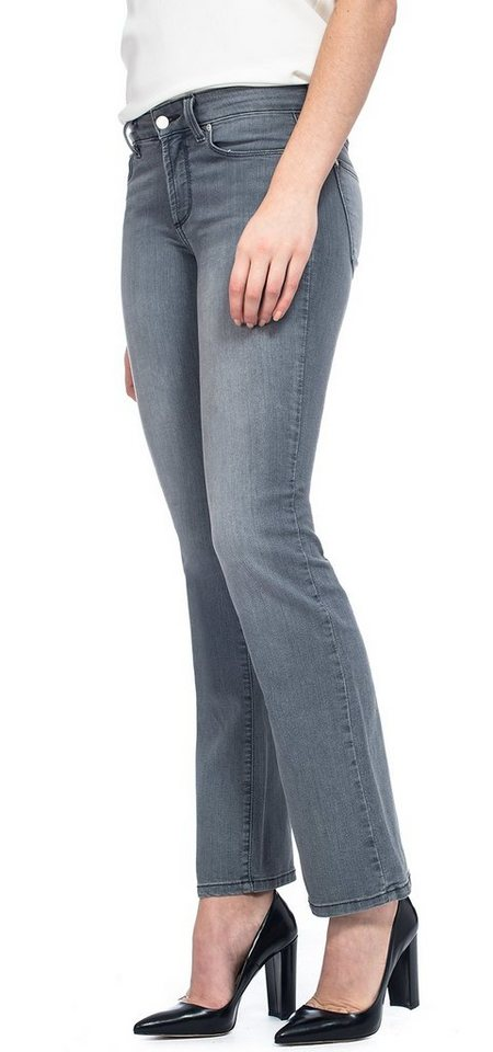 NYDJ Marilyn Straight Jeans in Pearl Grey
