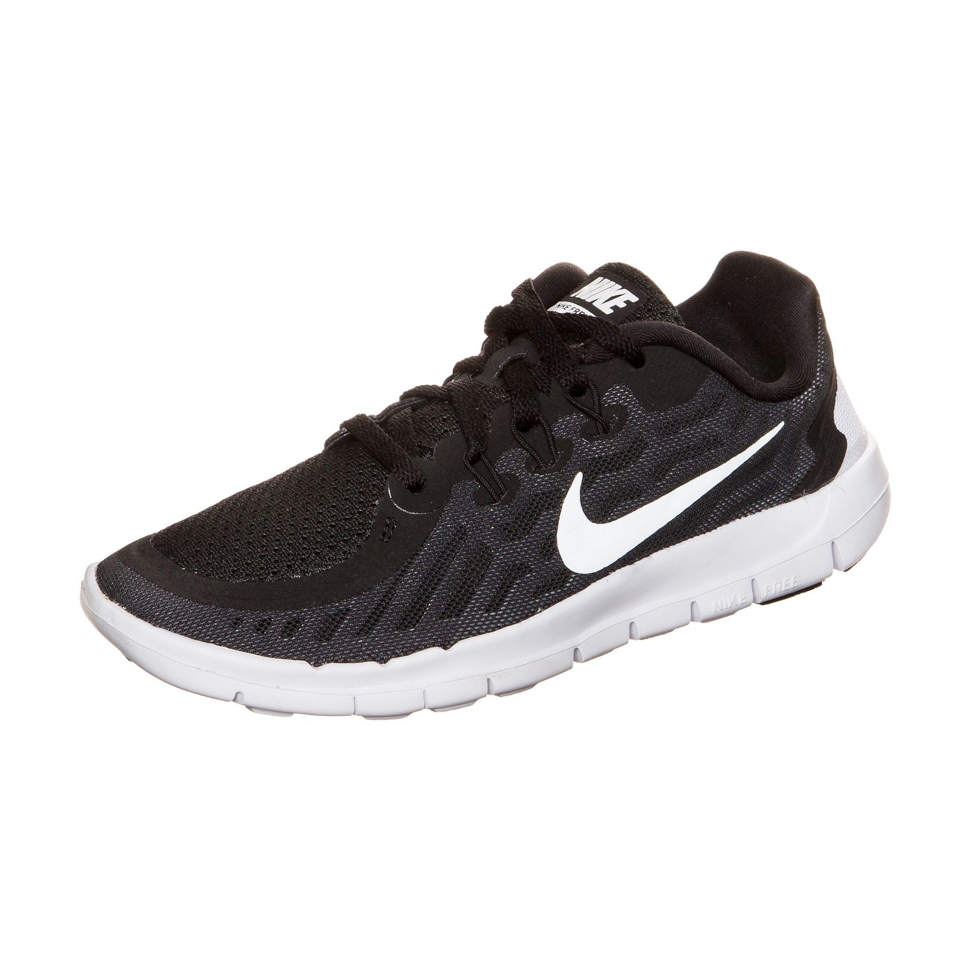 Nike Free 5.0 (GS) 644446 001 Black & Pink Running Shoes for GirlsWomen