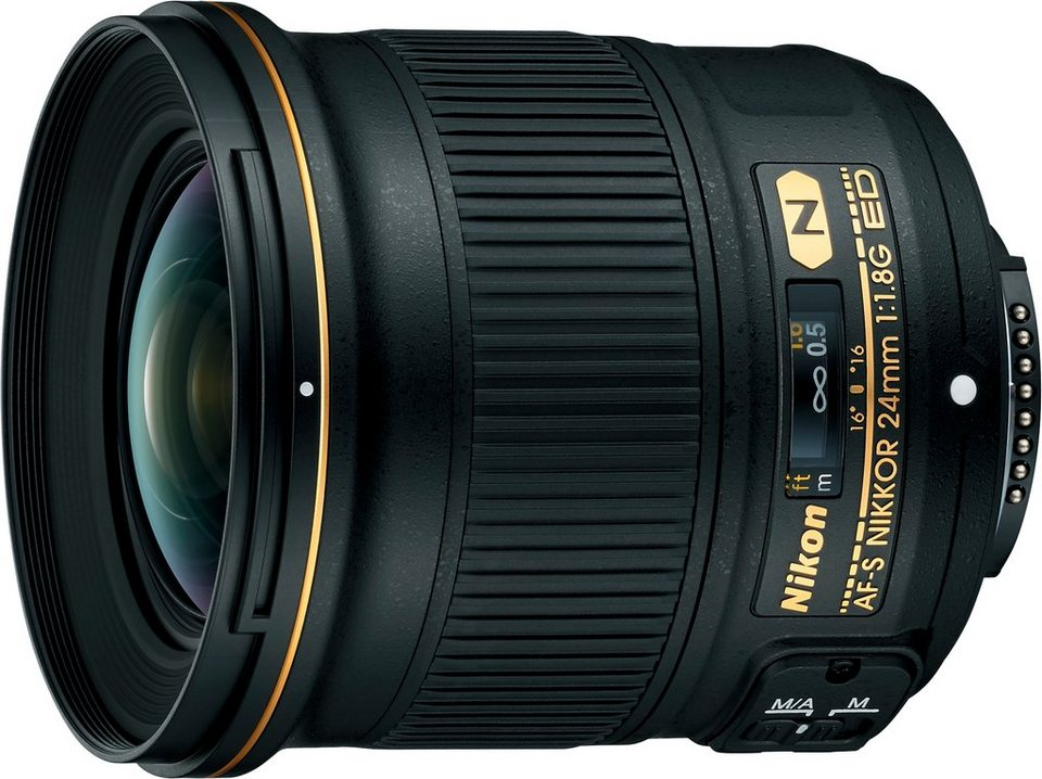 Nikon AF-S NIKKOR 24mm 1:1.8G ED Weitwinkel Objektiv in schwarz