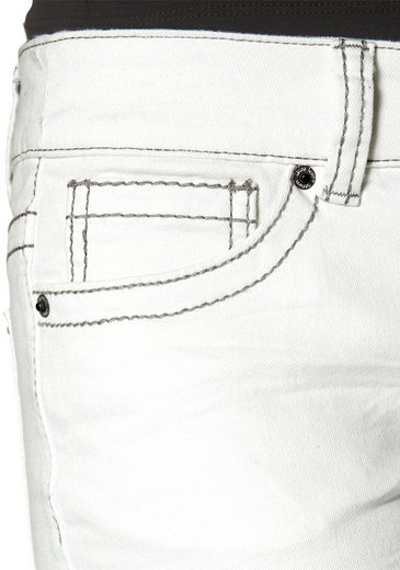 Laura Scott Tube Jeans, Stitched With Contrasting