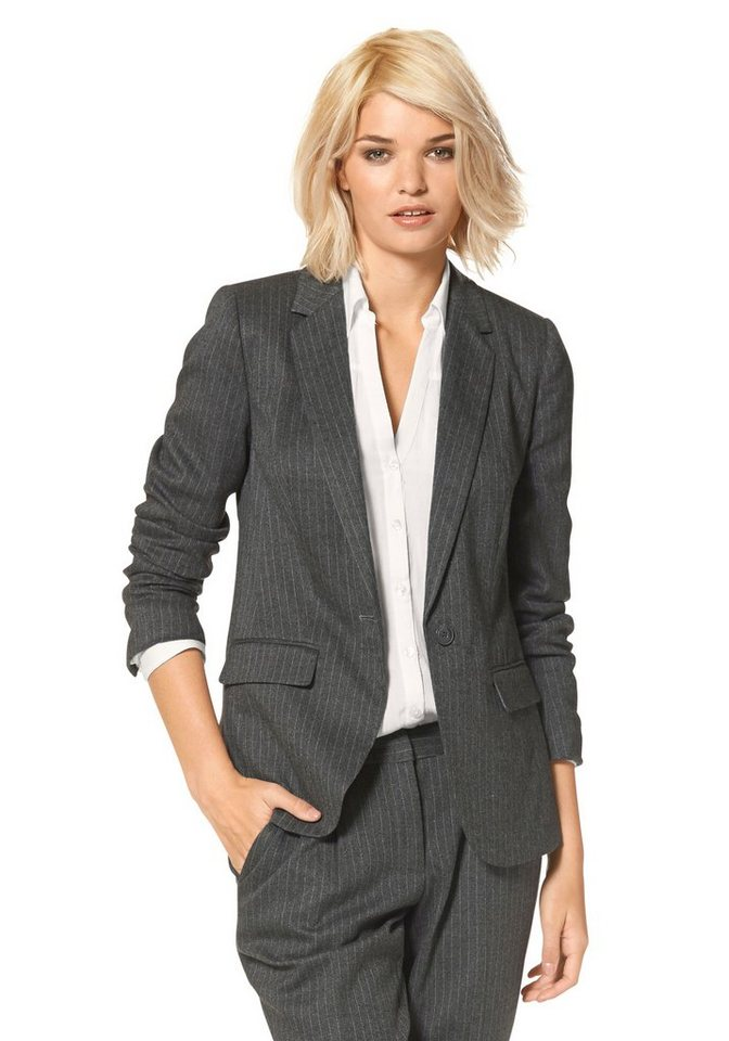 Laura Scott Blazer Boyfriend-cut in gestreift
