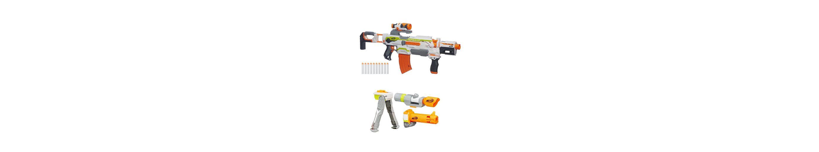 Hasbro Set: Shooter + Zubehör, »Nerf N-Strike Elite XD Modulus Blaster und Zubehörset Weitschuss«