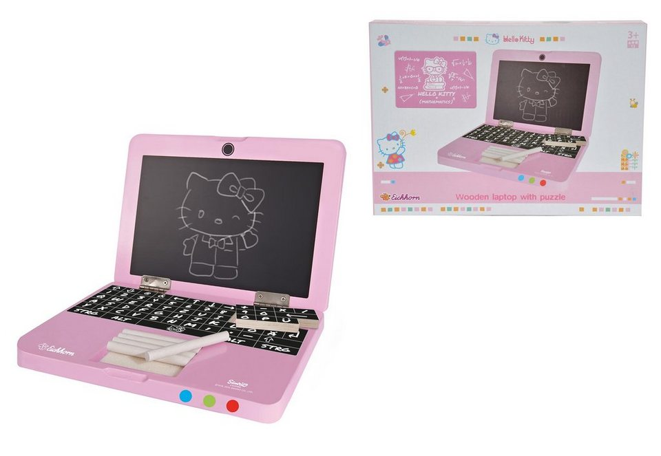 Hello Kitty Tapete Auf Rechnung : Eichhorn Laptop mit Puzzle aus Holz, ?HelloKitty? OTTO