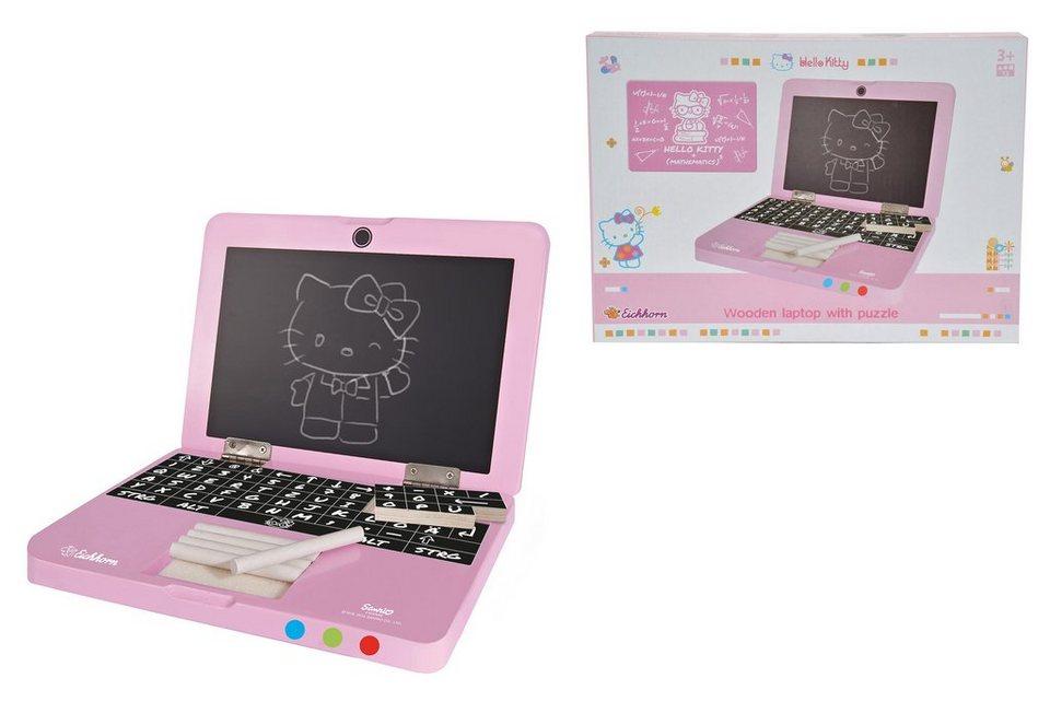 Eichhorn Laptop mit Puzzle aus Holz, »HelloKitty«