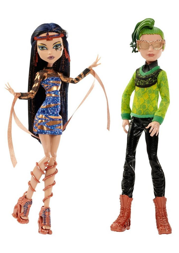 Mattel Puppenset, »Monster High -Traumpaar in Schwierigkeiten: Cleo de Nile & Deuce Gorgon«