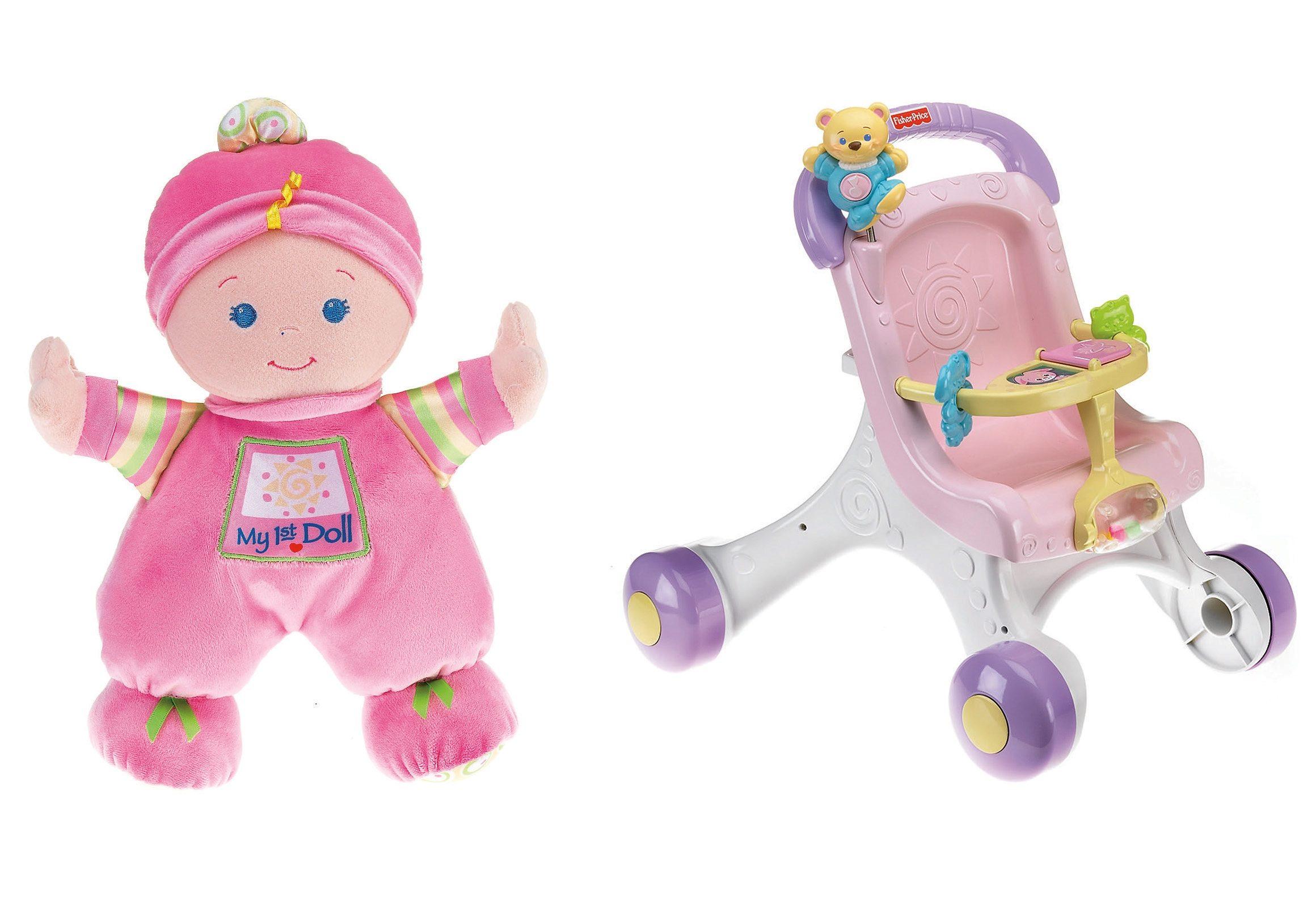 Fisher Price, Set: Puppe + Puppenwagen, »Meine erste Puppe mit Puppenwagen«