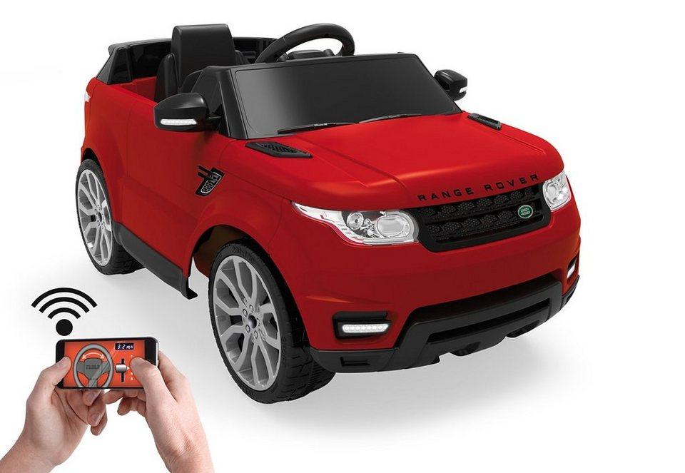 Feber Elektrofahrzeug über App fernsteuerbar,  Range Rover Sport 6V rot  online kaufen
