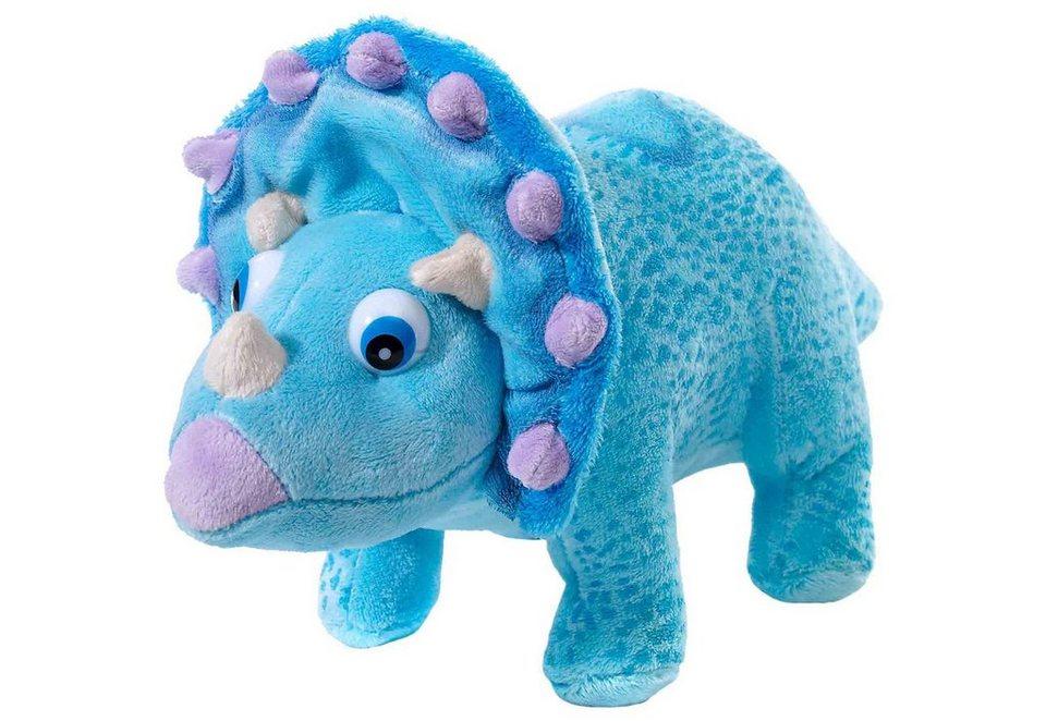 Heunec Plüschtier »Dino Zug Tank« in blau