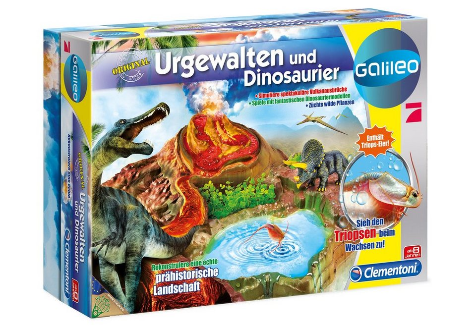 Clementoni Experimentier-Set, »Galileo-Urgewalten und Dinosaurier«