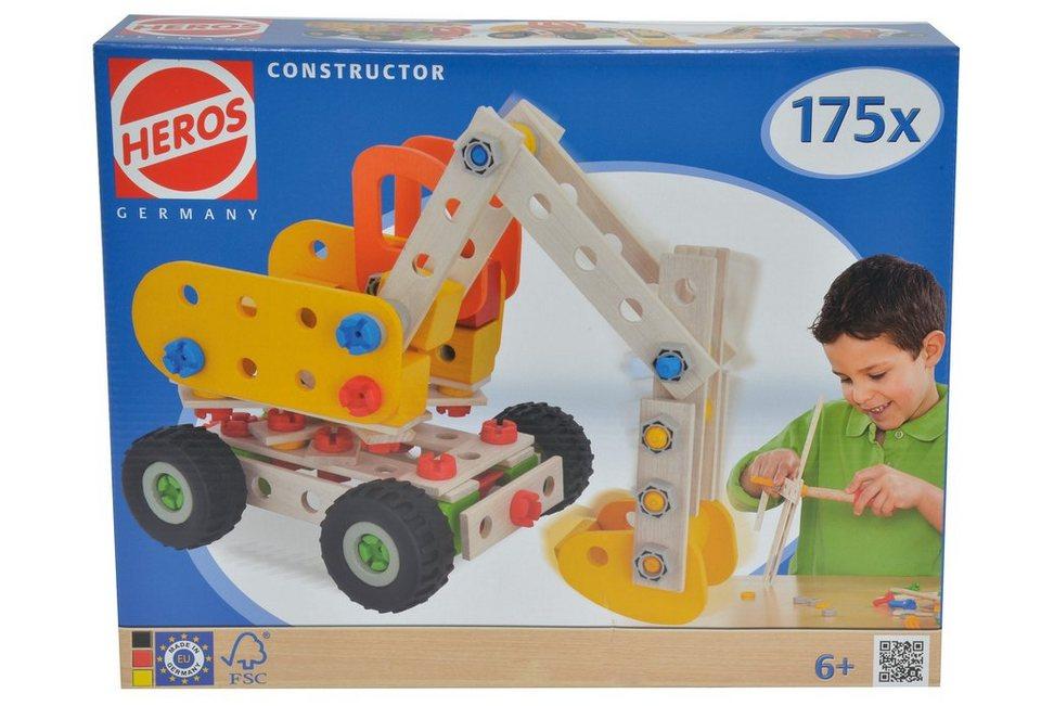 Heros Bauset aus Holz, 175tlg. »Constructor Bagger«