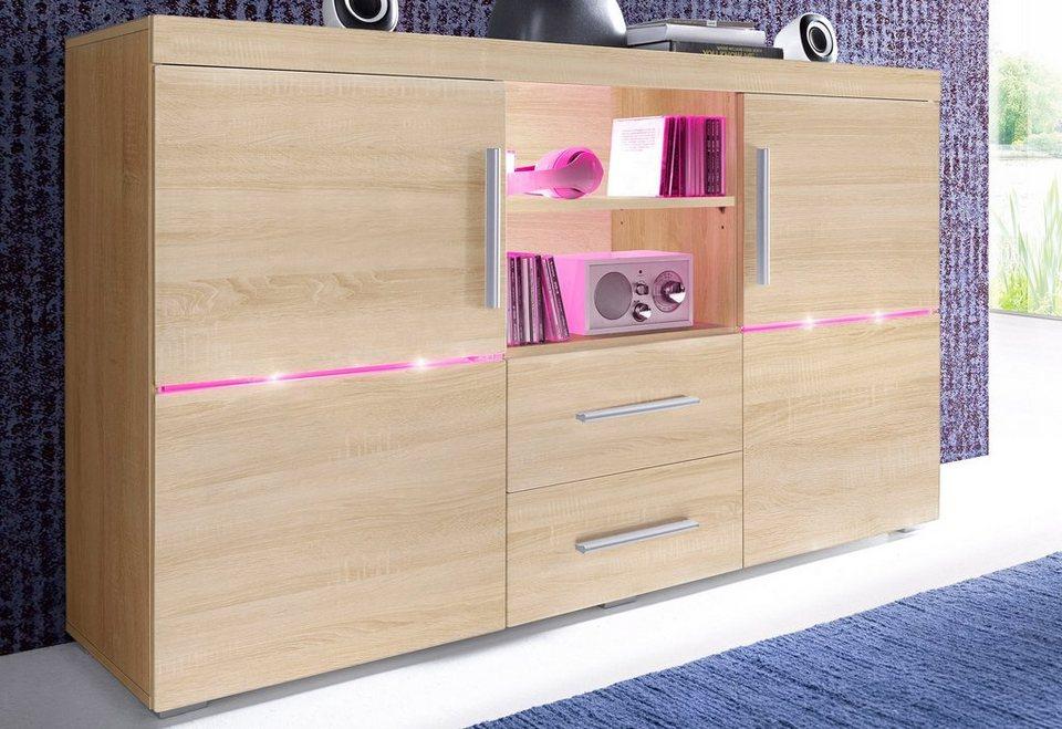 sideboard breite 140 cm 2 t ren online kaufen otto. Black Bedroom Furniture Sets. Home Design Ideas