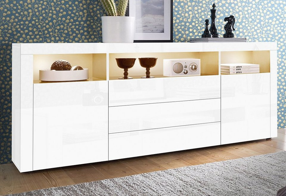 sideboard wei 150 cm affordable fabulous large size of amalfi anrichte weia hochglanz. Black Bedroom Furniture Sets. Home Design Ideas