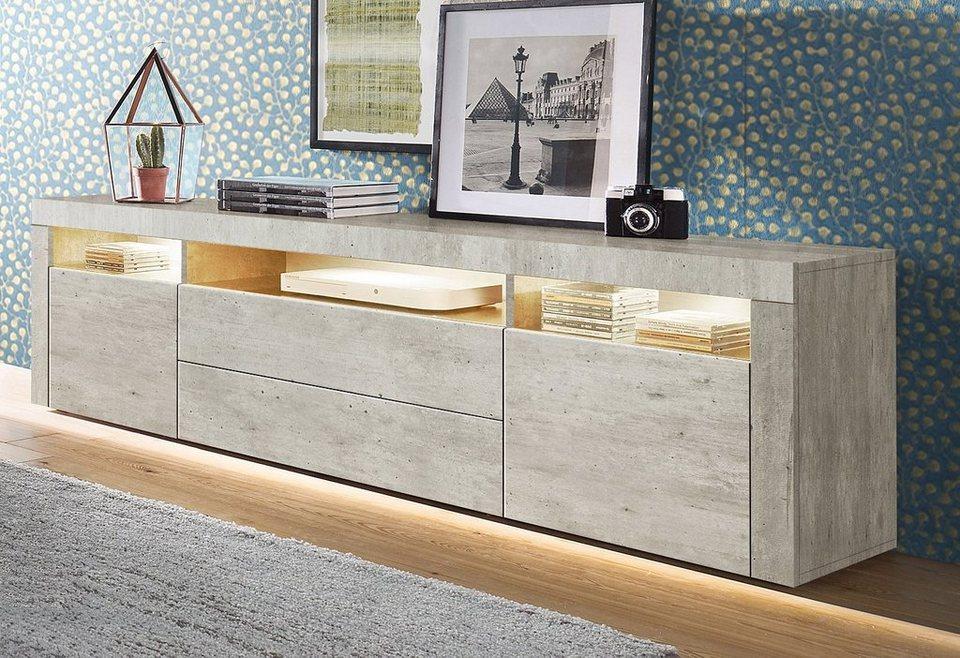 borchardt m bel lowboard breite 166 cm kaufen otto. Black Bedroom Furniture Sets. Home Design Ideas