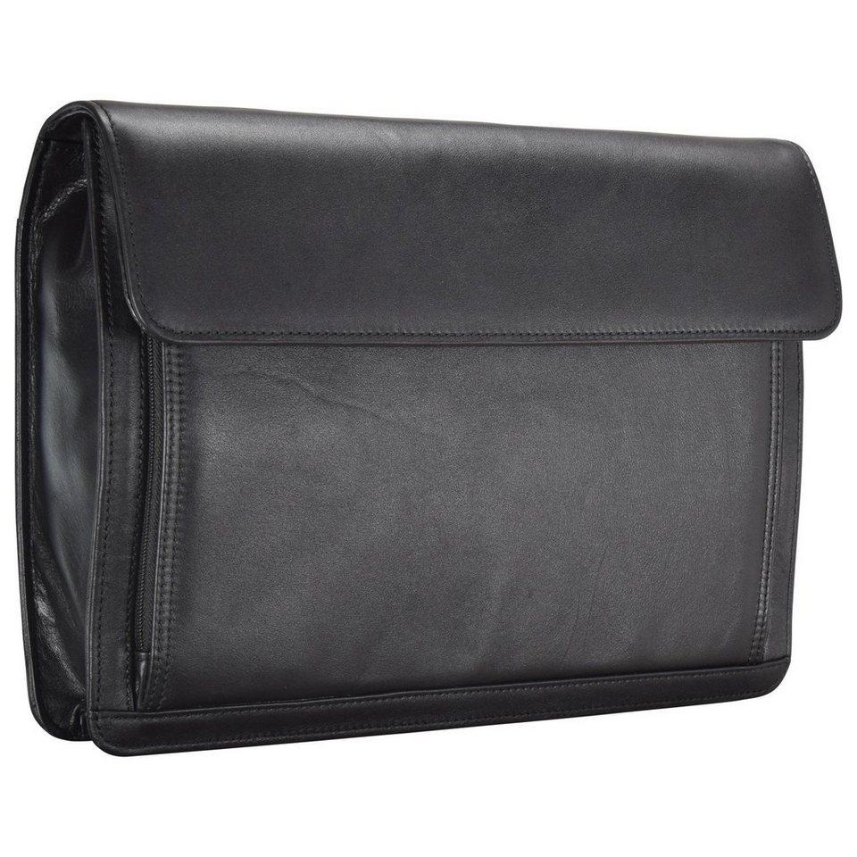 Dermata Aktentaschen Aktenmappe Leder 36,5 cm in schwarz