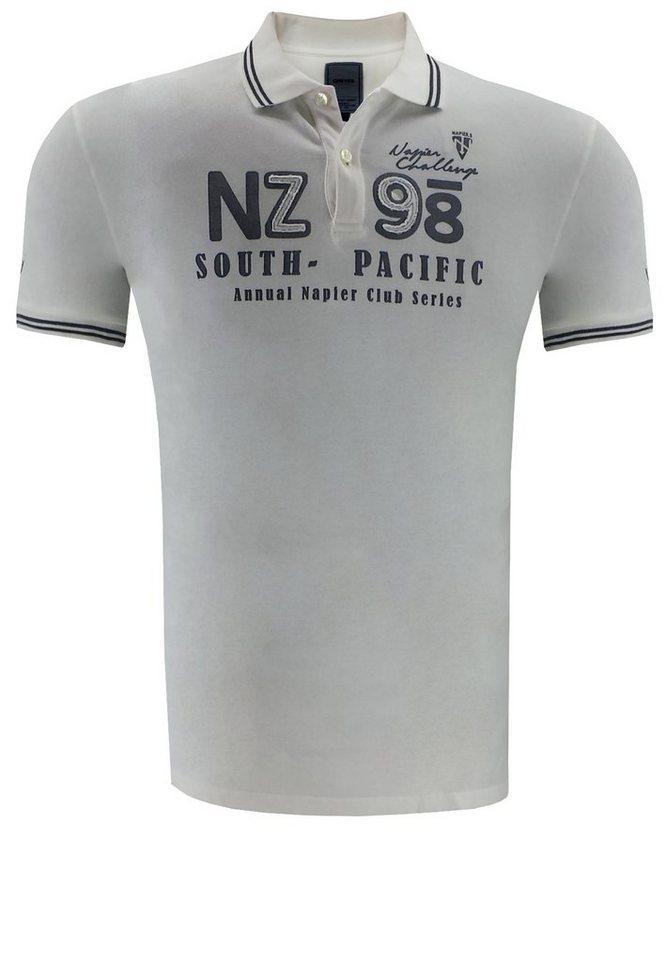 greyes Poloshirt in Weiß