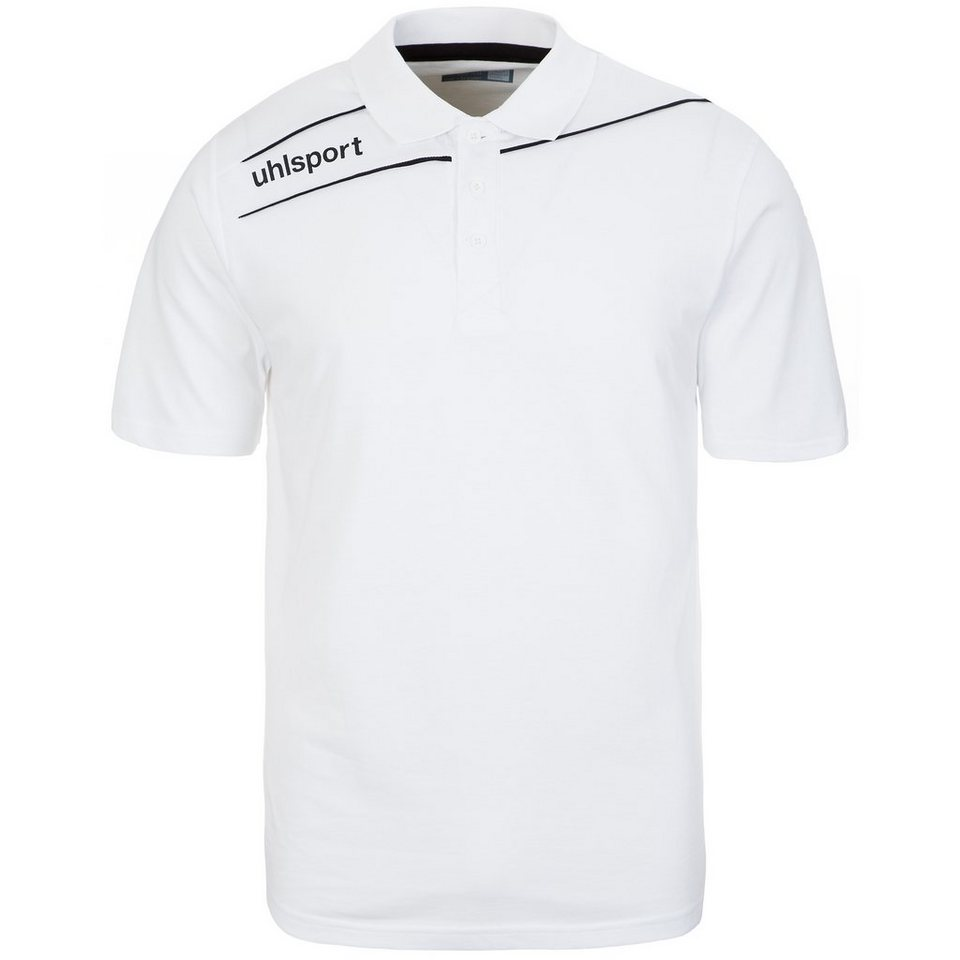 UHLSPORT Stream 3.0 Polo Shirt Herren in weiß/schwarz