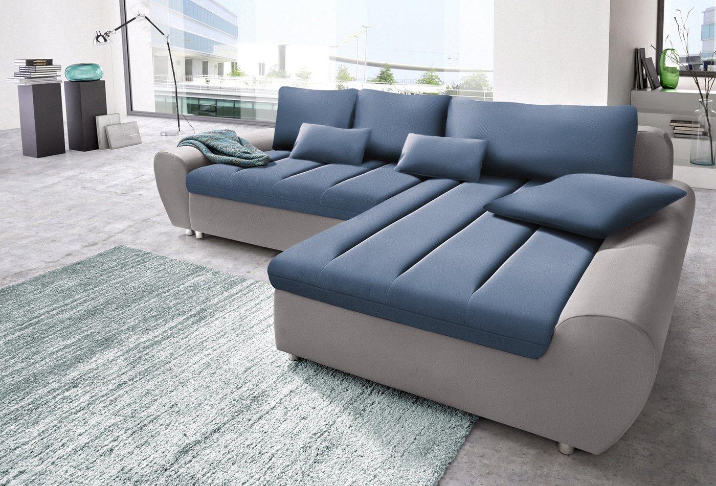 sit&more Polsterecke Bandos  wahlweise mit Bettfunktion blau | 04029686403277
